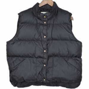 L.L. Bean Vintage Women's Goose Down Vest XL Black